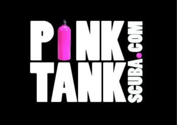 Pink Tank Scuba Logo