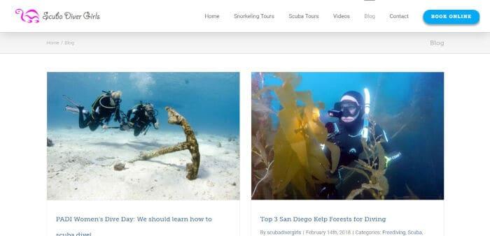 Scuba Diver Girls