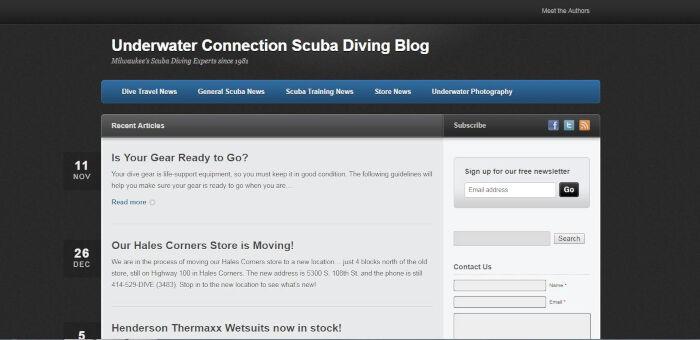 Underwater Connection Scuba Diving Blog